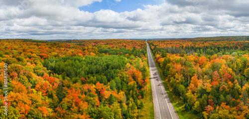 Vibrant autumn colors in the Michigan Upper Peninsula near Ironwood -  scenic dr Wallpaper Mural