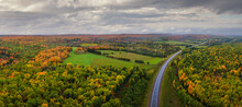 Beautiful Autumn Countryside Drive In The Michigan Upper Peninsula