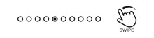Swipe Dots Vector Flick Flat Gesture Icon, Scroll Technology Simple Symbol Illustration.