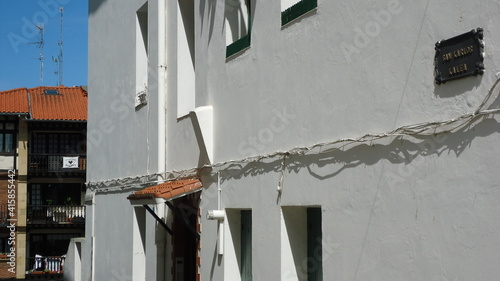 Calle en Hondarribia, Guipúzcoa, País Vasco