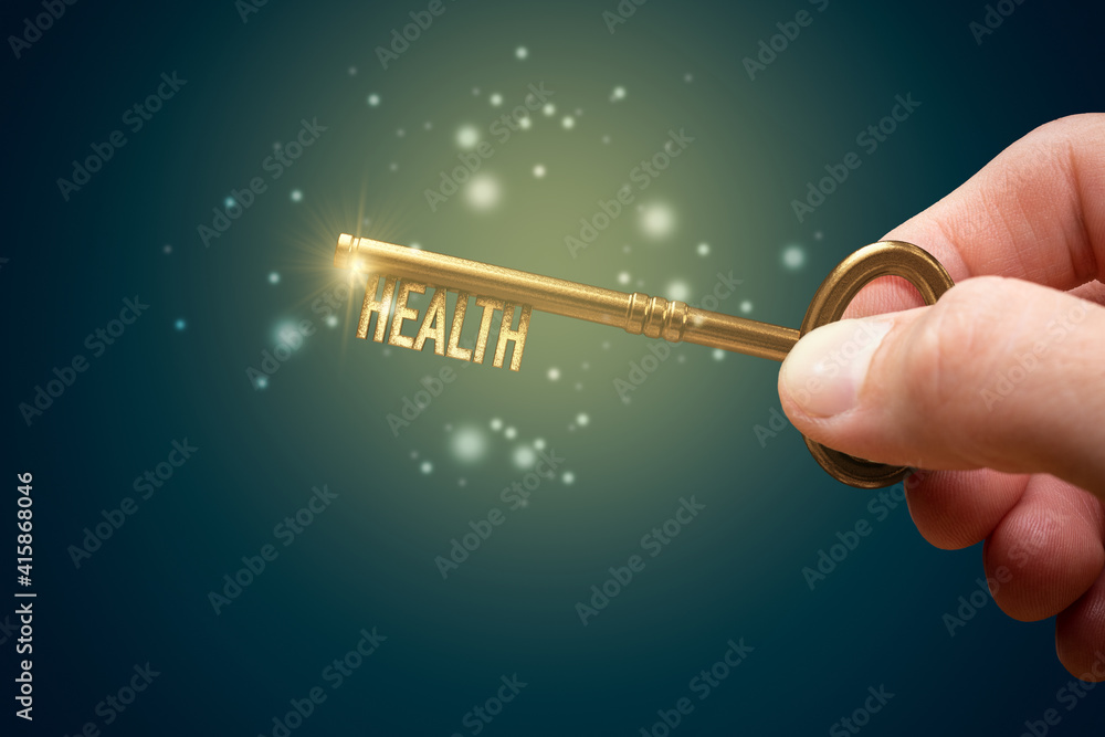 Fototapeta Key to your health is in your hand
