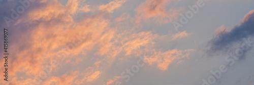 Fotografie, Obraz scenic sunset clouds