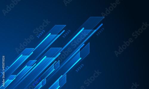 Fotografie, Obraz Abstract arrow direction. Technology background