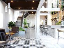 3d Render Of Restaurant Cafe Interior
