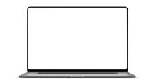 Laptop Blank Screen With Frameless Modern Design
