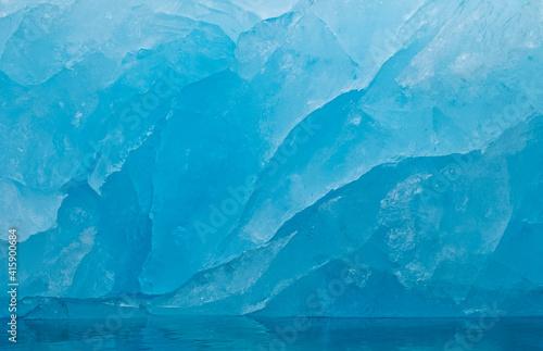 Canvas Print Iceberg adrift in the ocean, Svalbard, Norway.