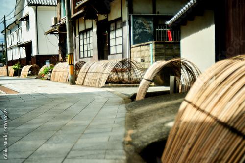 Billede på lærred たけはら 竹原市の町並み 広島県 夏景色