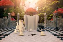 Wonderland Tea Party, 3d Render.