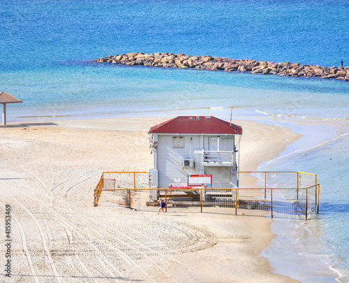 Fotografie, Obraz beach hut on the beach