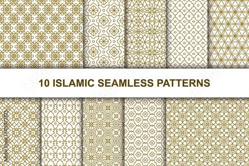 Fotografia Set of Islamic seamless patterns