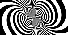 Abstract Background Made Of Distorted Lines. Pattern With Optical Illusion. Psychedelic Stripes. Vector Illustration For Brochure, Flyer, Card, Banner Or Cover.