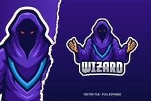 Wizard Demon E-sport Game Logo Template