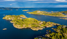 Aerial View Of Islands Along The Southern Norwegian Coast East Of Kragero, Norway