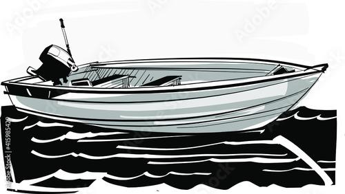 Fototapeta fishing boat in the sea