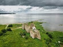 Aerial View Of Toolse Order Castle Ruins In North Estonia