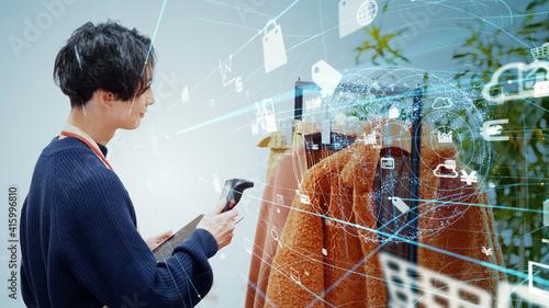 Obraz na plátně 商品管理とテクノロジー 在庫管理 RaaS