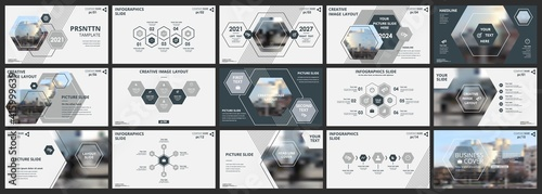 Abstract white, gray slides. Brochure cover design. Fancy info banner frame. Creative set of infographic elements. Urban. Title sheet model set. Modern vector. Presentation templates, corporate.