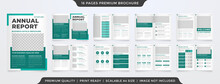A4 Business Annual Report Template Design With Minimalist Layout Style Use For Company Profile And Portfolio