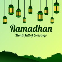 Ramadan Theme Design Background Template, Suitable For Posters, Greetings, Backgrounds And Anything Related To Ramadan Themes