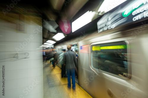 New York City subway train system in Manhattan © f11photo