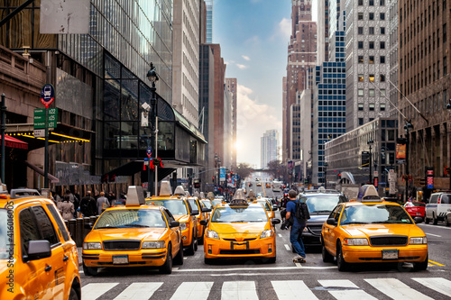 Fototapety, obrazy: Yellow Taxi in Manhattan, New York City  in USA