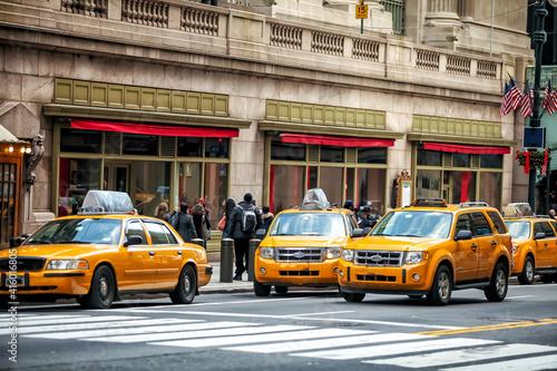 Yellow Taxi in Manhattan, New York City © f11photo