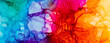 Leinwandbild Motiv Abstract trendy wallpaper artwork. Ink colors, natural pattern