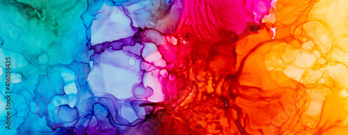 Abstract trendy wallpaper artwork. Ink colors, natural pattern - fototapety na wymiar