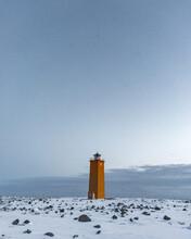 Iceland Orange Lighthouse