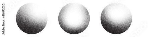 Fotografia Dotwork 3D Spheres vector background