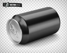 Canette De Soda Noire Vectorielle Sur Fond Transparent