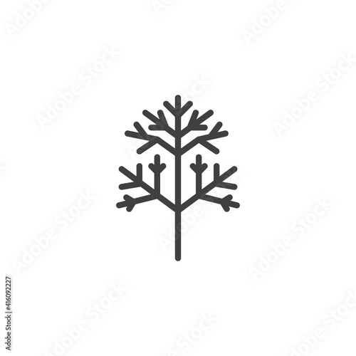 Dill herb vector icon Fotobehang