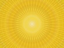 Yellow Kaleidoscope Design