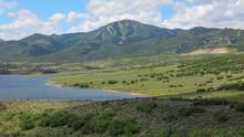 Mountains By Jordanelle Reservoir In Rural Utah