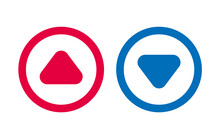 Arrow Up Down Icon Play BLue And Red Line Design