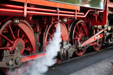 Red Steam Railway Wheels