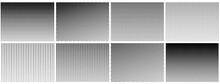 Halftone Gradient Effect. Dot Texture, Dotted Geometric Pattern Background. Fade Circle Lines, Black Duotone Digital Graphic Recent Vector Elements. Monochrome Gradient Graphic Dots Effect