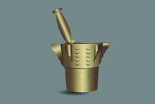 Illustration Vectorielle De Mortier Doré Du Mortier Marocain