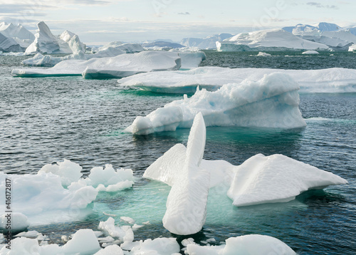 Canvas Iceberg in the Uummannaq Fjord System, Greenland, Danish overseas colony