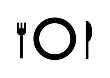 フォーク ナイフ 皿 モノクロ