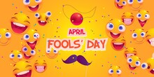 Flat April Fools Day Background, Flat April Fools Day Poster   Background Illustration