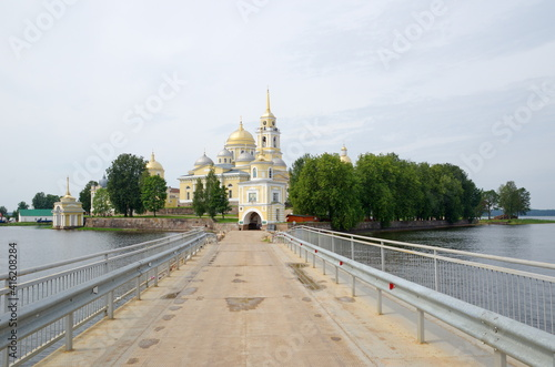 Summer view of the monastery of the Nilo-Stolobenskaya deserts. Tver Region, Russia © koromelena
