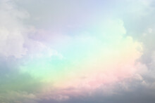 Abstract Pastel Multicolor Clouds And Sky