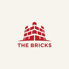 The Bricks Logo Fortress Symbol Abstract