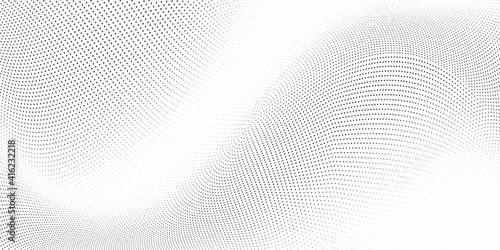 Obraz na plátně Light halftone dots grunge wide background