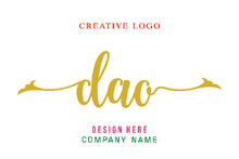 DAO Lettering Logo Is Simple, Easy To Understand And Authoritative