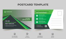 Corporate Business Postcard Template Design, Simple And Clean Modern Minimal Postcard Template, Business Postcard Layout