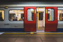 Subway Train In Subway Underground