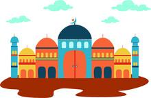 Mosque Illustration Vector