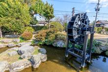 武家屋敷の水車 長崎県島原市 Water Wheel Of Bukeyashiki Nagasaki-ken Shimabara City